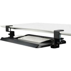 Kantek Keyboard Tray, Clamp, 20-1/4 inWx11-3/4 inL, Black
