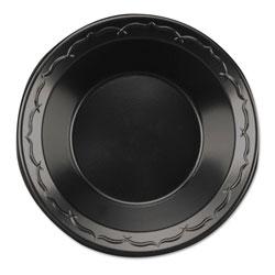 Genpak Elite Laminated Foam Dinnerware, Bowl, 12oz, Black, 125/Pack, 8 Pack/Carton