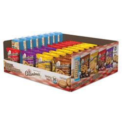 Grandma's Cookies Variety Tray 36 Count, 2.5 oz Packs