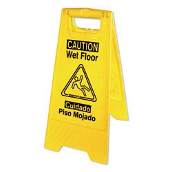 Impact Bilingual Yellow Wet Floor Sign, 12.05 x 1.55 x 24.3, Yellow