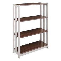 Linea Italia Trento Line Bookcase, Three-Shelf, 31 1/2w x 11 5/8d x 43 1/4h, Mocha