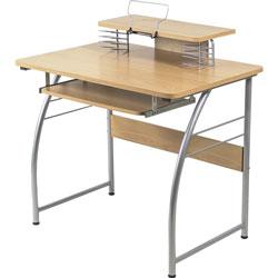 Lorell Computer Desk, Laminate, 23-3/5 in x 35-2/5 in x 35-1/5 in, MPL