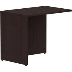 Lorell Espresso Laminate Desk, 35 in x 24 in x 29.5 inReturn Shell, 1 in Top, Finish: Espresso Laminate