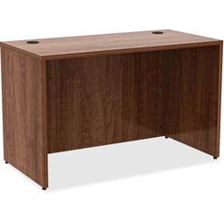 Lorell Laminate Desk, 48 in x 24 in x 29-1/2 in, Walnut