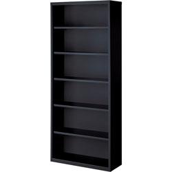 Lorell 6-Shelf Bookcase, Black