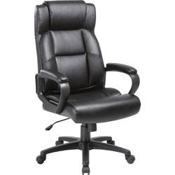 Lorell Executive Chair, High-Back, 29 inWx28-1/2 inLx46 inH, Black