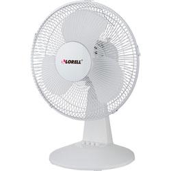 Lorell 12 in Oscillating Fan, 3 Speeds, 13-15/16 inx11-1/2 inx1-1/2 in, LGY