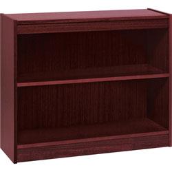 "Lorell 1-Shelf Veneer Panel Bookcase, 36""Wx12""Dx30""H, Mahogany"