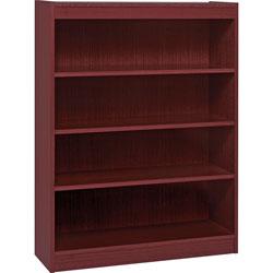 "Lorell 3 Shelf Veneer Panel Bookcase, 36""Wx12""Dx48""H, Mahogany"