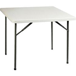 "Lorell Banquet Folding Table, 250 lb Capacity, 36"" x 29"" x 36"", Platinum"