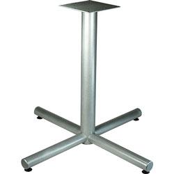 Lorell Cafe Table Base, X-Leg, 42 inx42 inx30 in, Metallic Silver