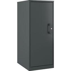 Lorell Storage Cabinet, 3-Shelf, 14-1/4 inWx18 inLx35-1/2 inH, Graphite