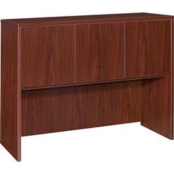 Lorell Hutch w/Doors,48 inx15 inx36 in,Mahogany
