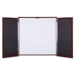 Lorell Presentation Cabinet, 47-1/4 inx4-3/4 inx47-1/4 in, Mahogany