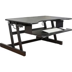 Lorell Desk Riser, Adjustable, 32 inWx21-1/2 inDx16 inH, BK