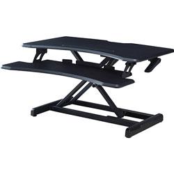 Lorell X-Type Riser, 20 inWx31-1/2 inLx16-1/2 inH, Black