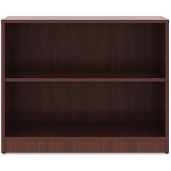 Lorell 2-Shelf Bookcase, 36 in x 12 in x 29-1/2 in, Mahogany