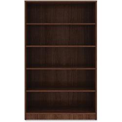 Lorell 5-Shelf Bookcase, 36 in x 12' x 60', Walnut