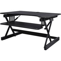 Lorell Desk Riser, Sit-Stand, 40 lb. capacity, 34-1/2 in x 27 in x 9 in, Black