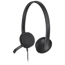 Logitech H340 Corded Headset, USB, Black