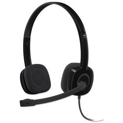 Logitech H151 Binaural Over-the-Head Stereo Headset, Black