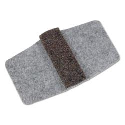 Master Caster Wrap Around Felt Floor Savers, Rectangular, 7.25w x 1d x 8h, Gray/Black, 16/Pack