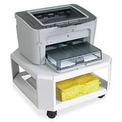 Master Mfg Mobile Printer Stand, Two-Shelf, 17.8w x 17.8d x 8.5h, Platinum