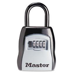 Master Lock Company Locking Combination 5 Key Steel Box, 3 1/4w x 1 5/8d x 4h, Black/Silver