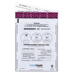 MMF Industries FREEZFraud Tamper-Evident Deposit Bags, 9 x 12, White, 100/Box