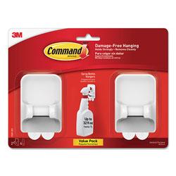 Command® Spray Bottle Holder, 2.34 x 1.69 x 3.34, White, 2 Hangers/4 Strips/Pack