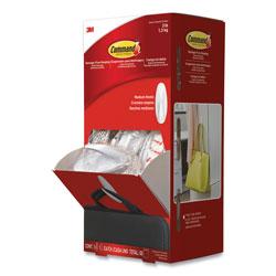 Command® General Purpose Designer Hooks, Medium, 3 lb Cap, White, 50 Hooks and Strips/Pack