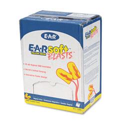 3M E·A·Rsoft Blasts Earplugs, Corded, Foam, Yellow Neon, 200 Pairs