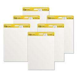 Post-it® Self-Stick Easel Pads, 25 x 30, White, 30 Sheets, 6/Carton