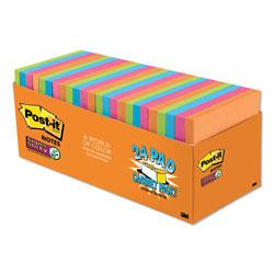 Post-it® Pads in Rio de Janeiro Colors, 3 x 3, 70-Sheet Pads, 24/Pack