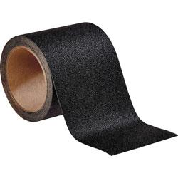 3M Slip-Resistant Tread, Indoor/Outdoor, 4 inWx15'L, Black