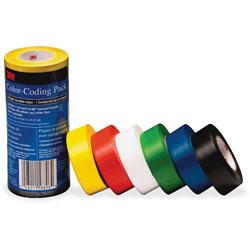 3M Color-Coding Pack, Vinyl Tape, .94 in x 21.87Yds, 6/PK, MI