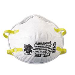 3M Lightweight Particulate Respirator 8210, N95, 20/Box