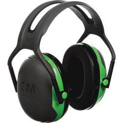 Peltor PELTOR X1 Earmuffs, 22 dB NRR, Green