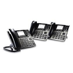 Motorola Unison 1-4 Line Wireless Phone System Bundle, 2 Additional Deskphones
