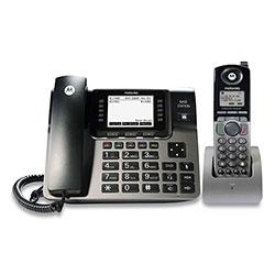 Motorola ML1250 1-4 Line Corded/Cordless Phone System, 1 Handset, Black/Silver