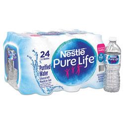 Nestle Pure Life Purified Water, 16.9 oz Bottle, 24/Carton