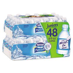 Nestle Pure Life Purified Water, 8 oz Bottle, 48/Carton