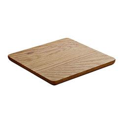 Bauscher Hepp Playground Wooden Serving Board, 12.6x12.6 in, Oak