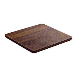 Bauscher Hepp Playground Wooden Serving Board, 12.6x12.6 in, Walnut