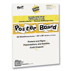 Pacon Super Value Posterboard, 22 x 28, White, 50/Carton