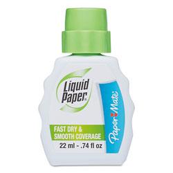 Sanford Fast Dry Correction Fluid, 22 ml Bottle, White, 1/Dozen