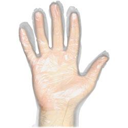 Protected Chef Disposable Gloves, Polyethylene, Medium, 1000/BX, Clear