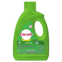 Cascade Dishwasher Gel, Lemon Scent, 120 oz. Bottle, 4/Case
