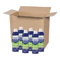 Microban 24 Hour Disinfectant Aerosol Sanitizing Spray, 15 oz. Spray Bottle, 6/Case