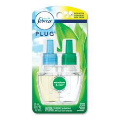 Febreze Plug in Air Freshener and Odor Eliminator, Meadows & Rain Scent, 1 Refill, 6/Pack